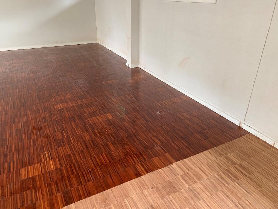 Før og efter gulvbehandling